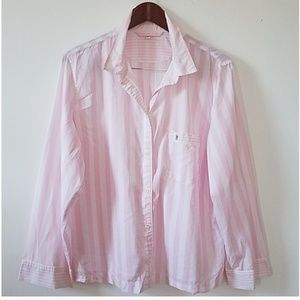 Victoria's Secret button down shirt, Pink, L